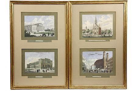 20 Prints 'Souvenir de Munich' G W Kraus