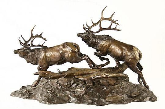 Bronze Sculpture Big Boys C Bronson UT 1984