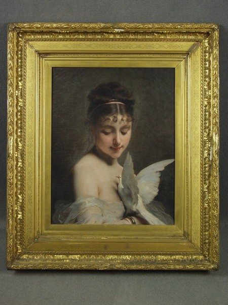 OOC WOMAN DOVE CHARLES CHAPLIN 1860