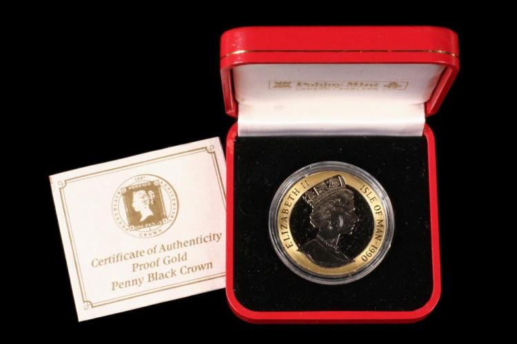 COIN - (1) Pobjoy Mint Isle of Man 1990 Penny Black 150th An