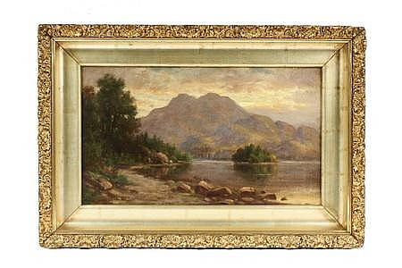 OOC Painting Loch Katrine Scotland Hiram R Bloomer