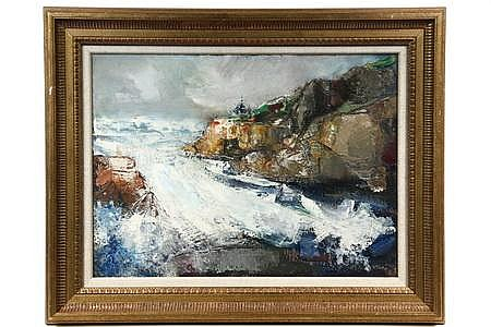 OOB Painting Rough Surf, Canada by Jean Liberte ME