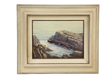 OOB Painting Coast at Ogunquit ME L D Bonnet CA 1927