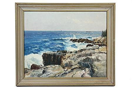 OOCB Painting Long Cove Chamberlain ME Parker Gamage
