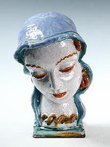 Goldscheider Bust of Woman Rudolf Podany Austrian