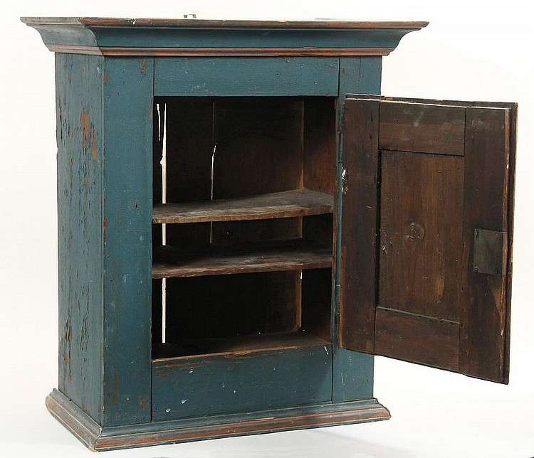 Painted Pine Kitchen Cabinets: Pine Cabinet In Dumpcart Blue