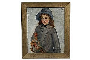 OOC Portrait English Girl by Elizabeth C F Clay 1913