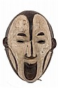AFRICAN MASK - Igbo People, South East Nigeria, Maiden Spirit Mask, for agricultural festivals, in carved wood with kaolin and paint. 2