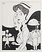 PEN & INK ILLUSTRATION W COLOR COMP - Caricature by George Wachsteter (1911-2006) of 'The Nurses' for Sunday April 28, 1963 cover of