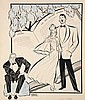 PEN & INK ILLUSTRATION - Caricature by George Wachsteter (1911-2004) for Lerner & Loewe's Hit Broadway Musical 'The Day Before Spring