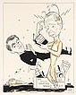 PEN & INK ILLUSTRATION - Caricature by George Wachsteter (1911-2004) for the out-of-this-world CBS-TV sitcom 'My Favorite Martian', s