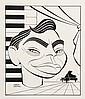 PEN & INK ILLUSTRATION - Caricature by George Wachsteter (1911-2004) of Pianist/Composer, Actor, Raconteur & Bon Vivant, Oscar Levant,