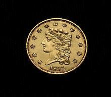 COIN - 1834 Classic Head $2.50 Gold, AU.