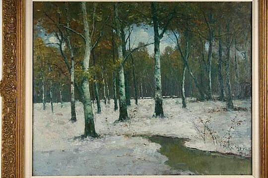 OOC Winter Birches by Max Weyl DC 1914