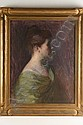 OOC Young Woman Boston School A V Tack c1900, Augustus Vincent Tack, Click for value
