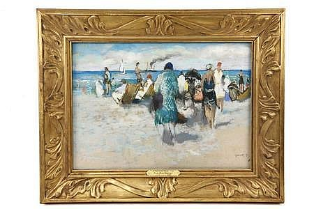 Pastel Women on Beach Paul Elie Gernez French