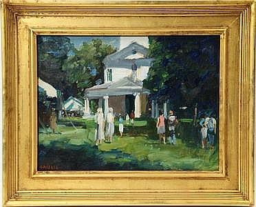 OOB Painting Church Fair Susan Grisell CT