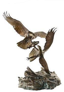 Bronze Sculpture Eagle's Conquest C Bronson 1980