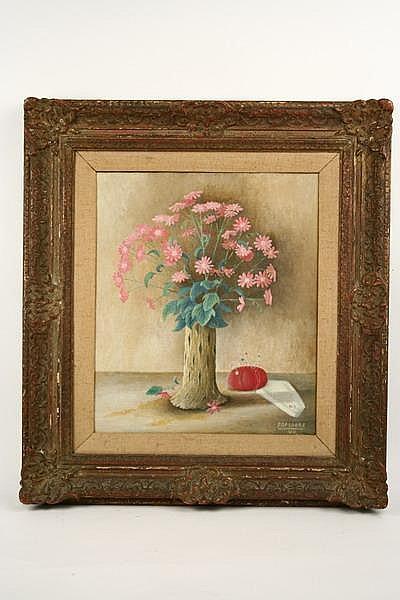 OOC Still Life Flowers F Papsdorf MI '44