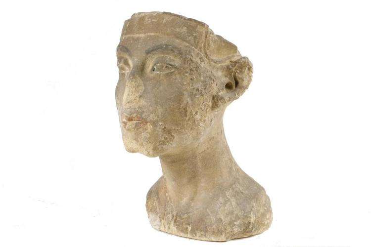 ANCIENT EGYPTIAN STONE BUST