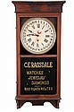 REGULATOR CALENDAR CLOCK - Sessions Walnut Cased Advertiment Clock, ca 1910, for 'C.E. Ragsdale, Watches, Jewelry, Diamonds, Watch Ins