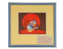 DISNEY PRODUCTION CELL WITH WALT'S AUTOGRAPH