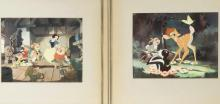DISNEY PHOTOS OF 'SNOW WHITE' & 'BAMBI' PRODUCTION CELLS
