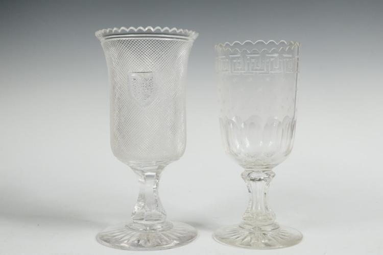 2 Cut Glass Celery Vases