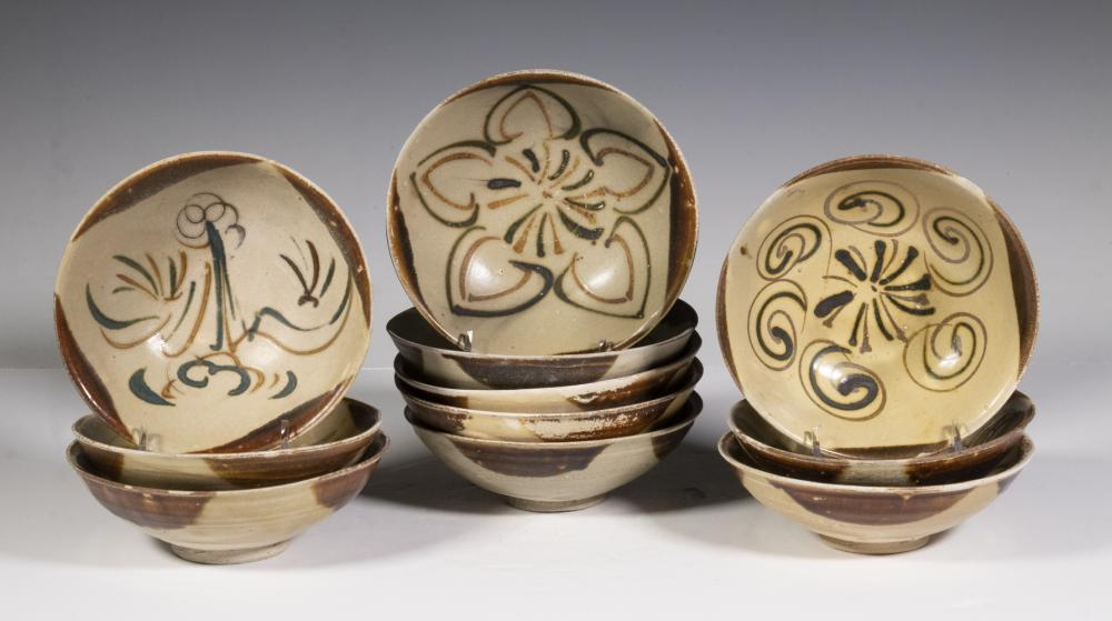 (11) CHINESE TANG DYNASTY CHANGSHA GLAZED DISHES
