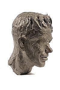 Sculpture 'Battle Casualty, 1946' by Lewis Iselin ME