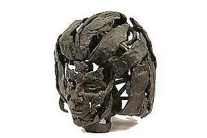 Sculpture 'Portrait Head, c 1970' by Lewis Iselin