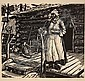 3 WPA Woodcut Prints by Michael J Gallagher PA
