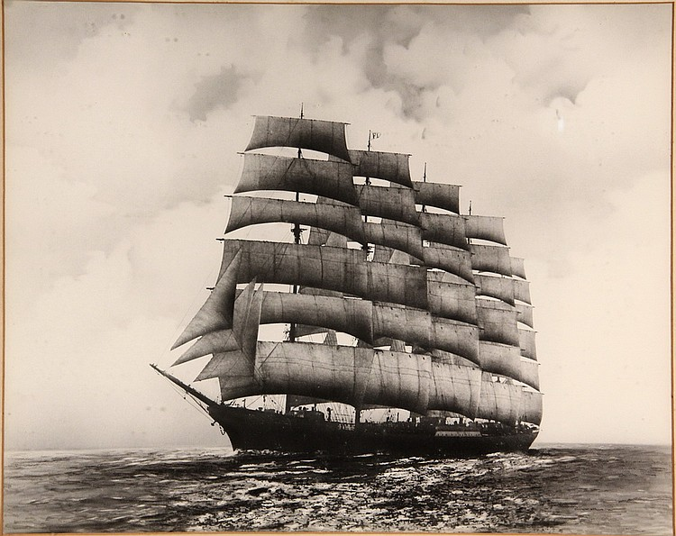 Photograph Of The Largest Sailing Ship Ever Built Large Ge