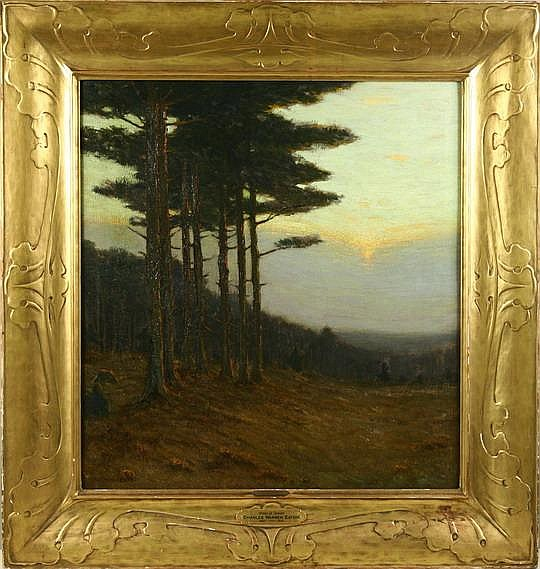 OOC Pines at Sunset Charles Warren Eaton