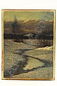 OOP Sunset Bird Brook Norway ME V M Akers 1946, Vivian Milner Akers, Click for value
