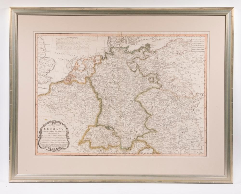 1805 MAP OF GERMANY, LAST YEAR OF THE HOLY ROMAN EMPIRE