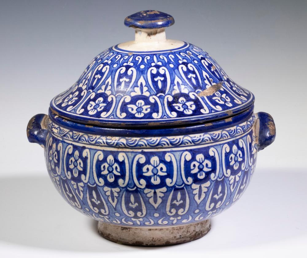 PERSIAN POTTERY TUREEN