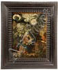 OIL ON COPPER - Madonna and Child in Mystic, Symbolic Landscape, Flemish, 16th-17th c., in early Hogarth style ripple frame, SS: 12 3/4