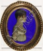 WAX PORTRAIT RELIEF OF A LADY - Circa1830, in a fine stamped gilt brass frame. H. 4 3/4