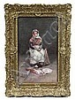 W/C Young Fishseller Girl H Caffieri British c1880