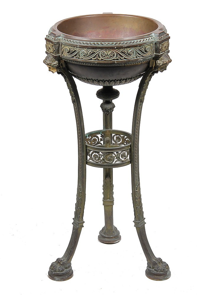 FRENCH BRONZE JARDINIERE - An Important Napoleon III Ormolu and Patinated Bronze Jardinière by Henri Picard, Paris, third quarter 19th