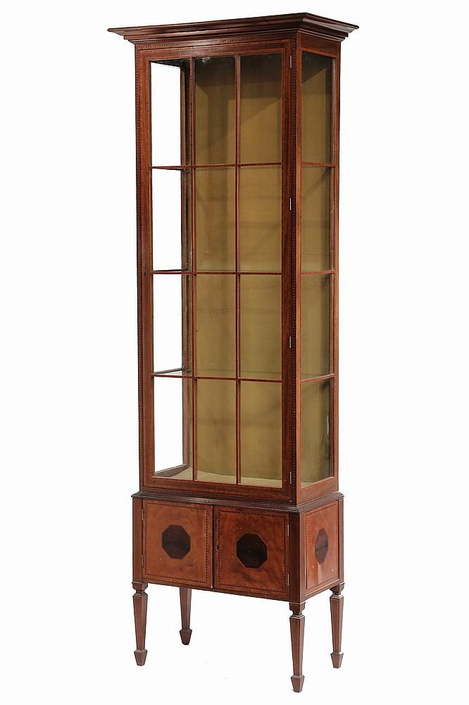 Adams Style Tall Curio Cabinet, Tall Curio Cabinet