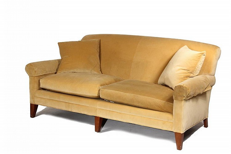 Overstuffed Sofa 1930 39 39 S Club Sofa With Rolled Back And Ar