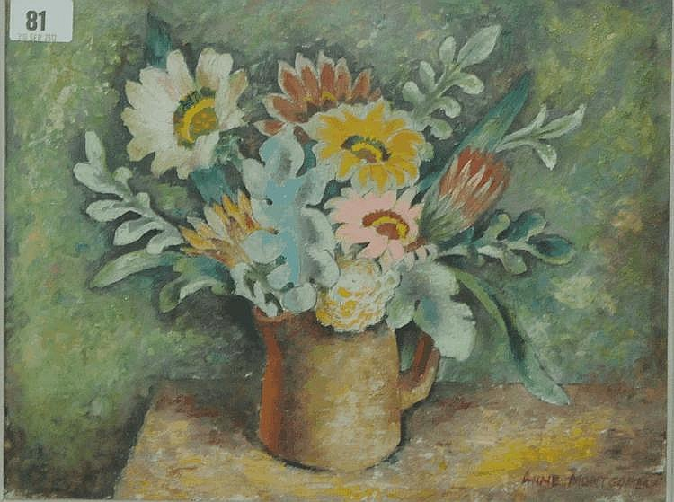 Anne Montgomery South African wild flowers Oil on