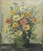 Julien Creytens Flowers in a green jug Oil on