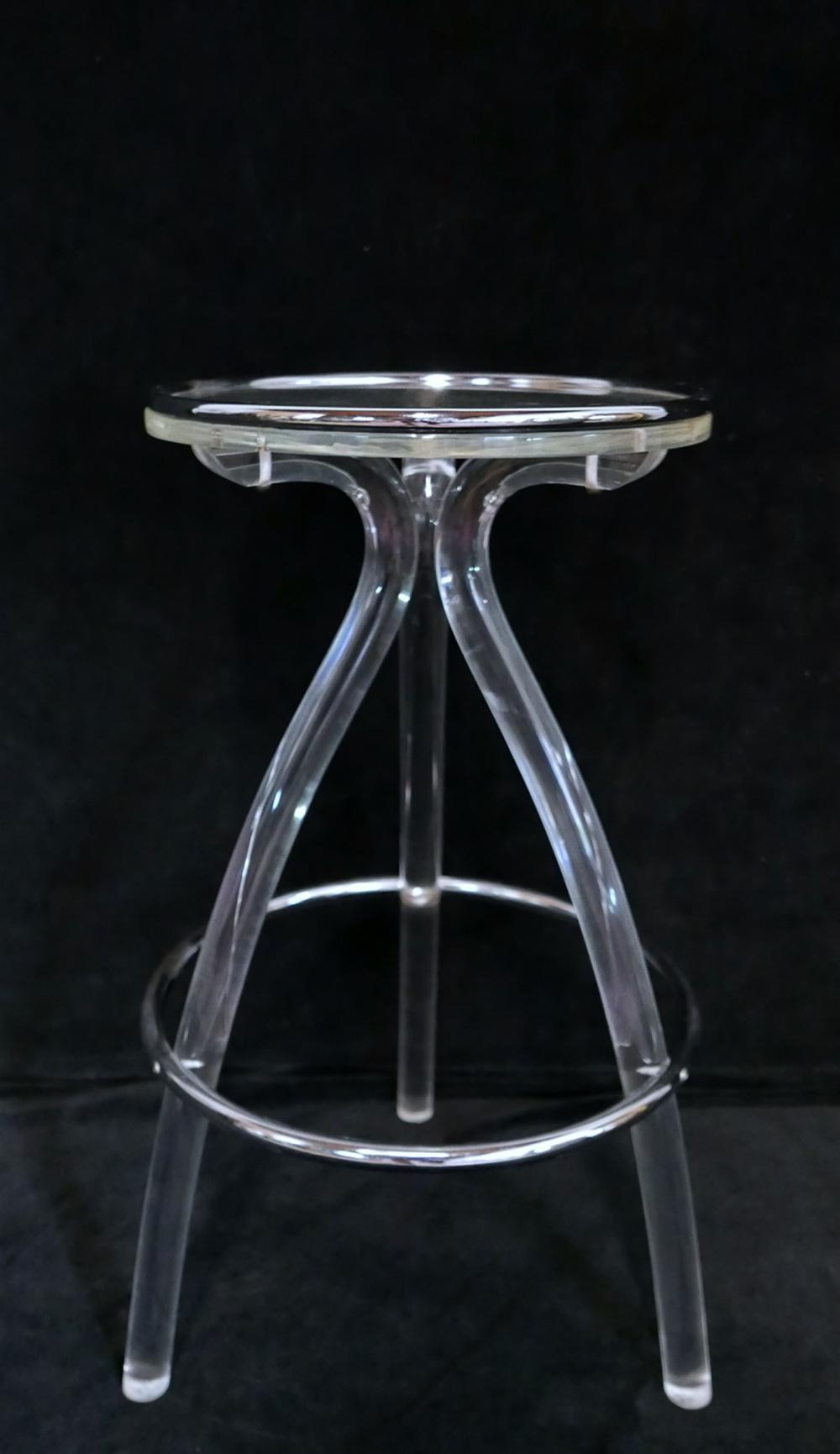 Sold Price Chrome Lucite Stool Invalid Date Edt