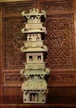 Green Glaze Pottery Han Tower of Eastern Han Dynasty