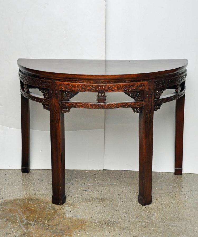 Antique Pair of Demi Lune Tables
