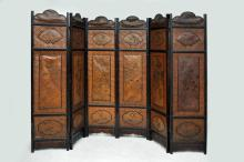 Vintage Chinese Six Fold Standing Screen