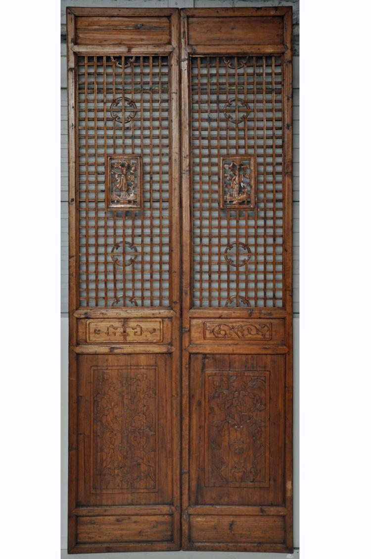 - Antique Chinese Tall Door Panels